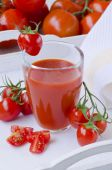 Tomato juice in a glass. — Stock Photo