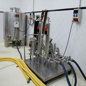 Bottling plant detail - square — Stock Photo