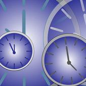 Pozadí modré hodiny — Stock fotografie