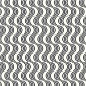 Vector seamless pattern geometric with wavy — Stock Vector