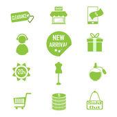 Zakupy, komercyjnych ikona ilustracja wektorowa — Wektor stockowy