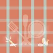 Keukengerei teken, koken boekillustratie pagina concept — Stockvector