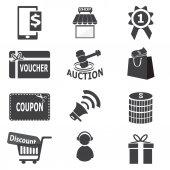 Shopping, business icon — Stock Vector