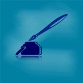 Inkt pen met stoffige krijt bestuur achtergrond — Stockvector