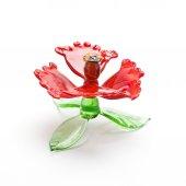 Glass poppy flower on the white background — Stock Photo
