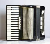 Musical instrument accordion — Stock Photo