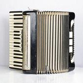 Black accordion opened — Stock Photo