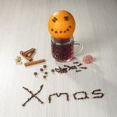Christmas hot wine still life — Foto de Stock