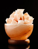Himalayan salt lamp cosiness and comfort concept — Stock Photo