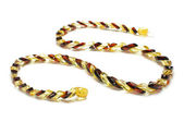 Fashionable snake type amber necklace isolated — 图库照片