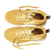 Brown urban style shoes top view — Stock Photo