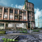 Abandoned city square — Foto Stock