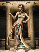 Fantasy Egyptian dancer — Stock Photo