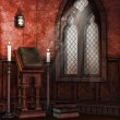 Chapel with books and candles — Foto Stock #54524307