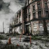 Abandoned block of flats — Foto Stock