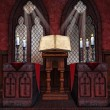 Medieval chapel with candles — Foto Stock #57123951