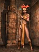 Fantasy Mayan girl — Stock Photo