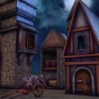 Fantasy granary at night — Stock Photo #60040193