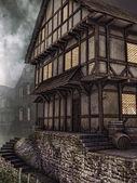 Old wooden tavern — Stock Photo
