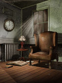 Vintage room at night — Stockfoto