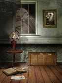 Spooky room at night — Stock Photo