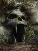 Spooky cave entrance — Stock Photo