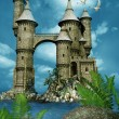Fantasy castle towers — Stock Photo #63784715