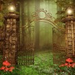 Gate with lamps — Stock Photo #66191171