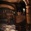 Castle cellar with wine — Stock Photo #69229613
