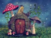 Fantasy gourd cottage — Stok fotoğraf