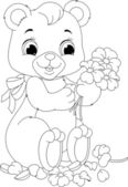 Bear coloring page — Stock Vector