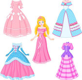 Princess Doll — Stock Vector