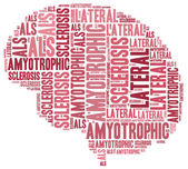 ALS. Word cloud illustration brain disease related. — Stock Photo