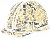 Bezpieczeństwa w koncepcji pracy. Słowo chmura ilustracja. — Zdjęcie stockowe