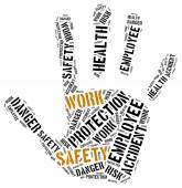 Safety at work concept. Word cloud illustration. — Zdjęcie stockowe