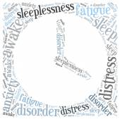 Insomnia or sleeplessness concept. Word cloud illustration. — Stock Photo