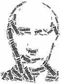 Vladimir Putin portrait. President of Russia. — Stock Photo