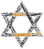 Holocaust remembrance day. Word cloud illustration. — Stock Photo