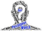 World philosophy day. Word cloud illustration. — Stock Photo