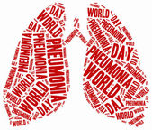 Word cloud illustration related to pneumonia. — Stock Photo