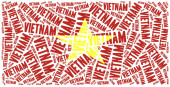 Bandera nacional de vietnam — Foto de Stock