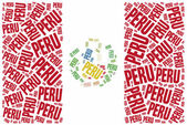 National flag of Peru — Stock Photo