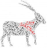 2015, Year of the Goat in Chinese zodiac callendar. — Stock Photo