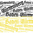 Flag of german state. Word cloud illustration. — Stock Photo #60193327