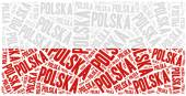 National flag of Poland — Стоковое фото