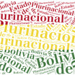 National flag of Bolivia. Word cloud illustration. — Stock Photo #61134703
