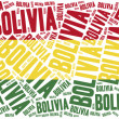 National flag of Bolivia. Word cloud illustration. — Stock Photo #61134713