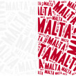 National flag of Malta. Word cloud illustration. — Stock Photo #61135025