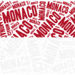 National flag of Monaco. Word cloud illustration. — Stock Photo #61135043