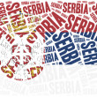 National flag of Serbia. Word cloud illustration. — Stock Photo #61135153